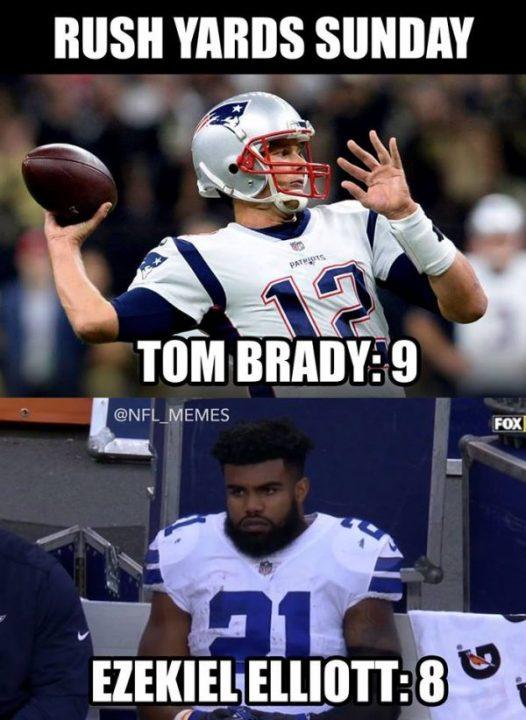 Ezekiel Elliott Meme Rush Yards Sunday Tom Brady; 9 Ezekiel Elliott; 8