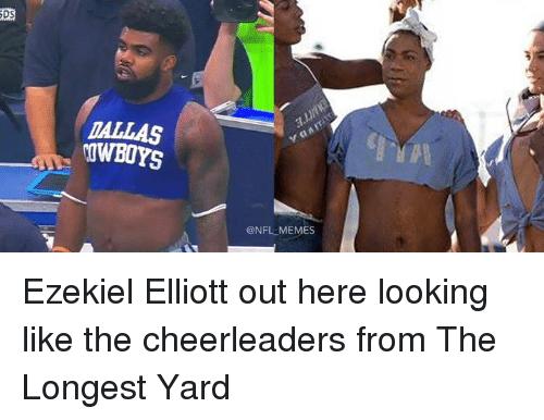 Ezekiel Elliott Meme Ezekiel Elliott Out here Looking Like the Cheerleaders From The Longest Yard
