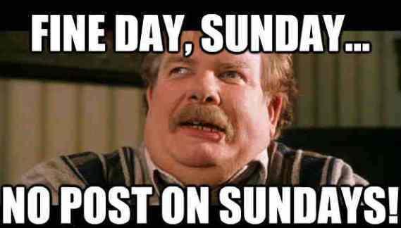 Nice Sunday Memes A Fat Man