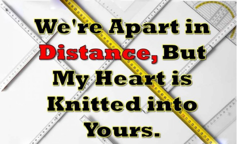 We're Apart In Distance,