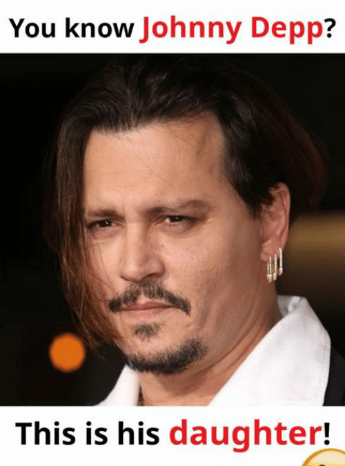 YOu Know Johnny Depp This Is His