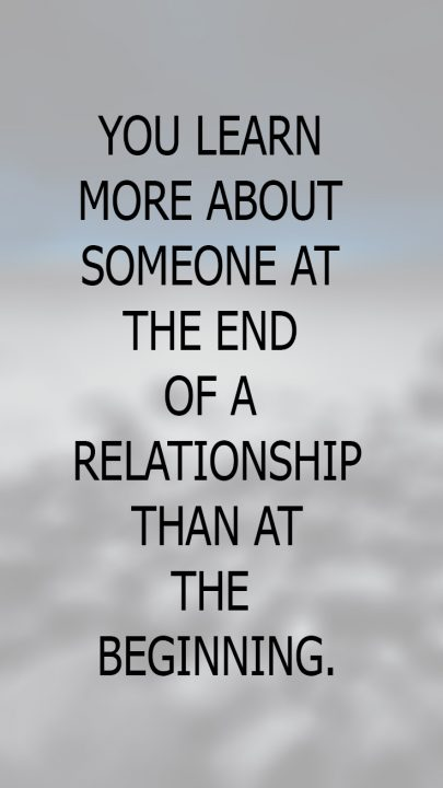 You Learn More About Someone At The End