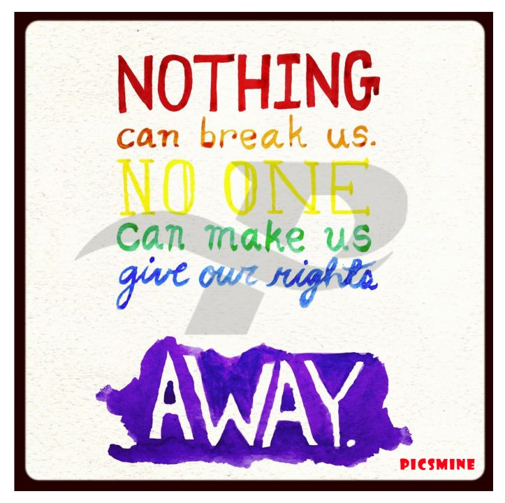 broadway quotes nothing can break us. no one can make us give our rights away