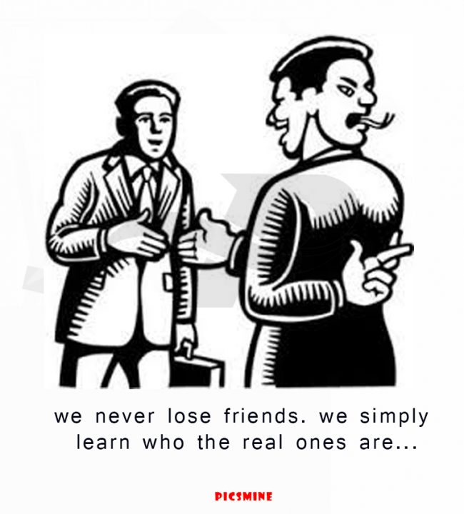 fake friend quotes we never lose friends. we simply learn who the real ones are...