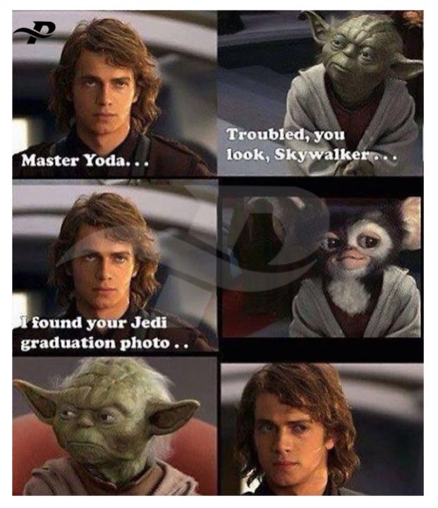 master yoda.. troubled, you look skywalker..