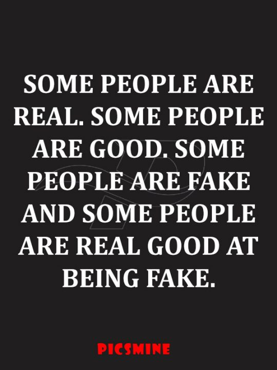 some people are real. some people are good. some people are fake and some people are real good at being fake Fake people quotes