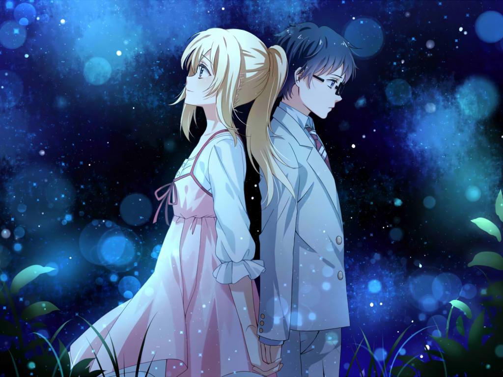 Desktop Wallpaper Anime Couple Kaori Miyazono Kousei Arima Your Lie In April Hd Image