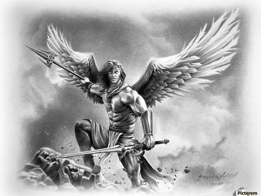 Warrior Wings Wolf Angel