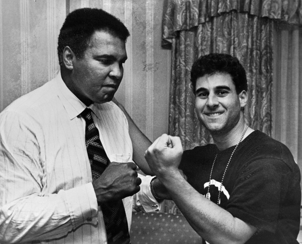 The champ and I pose for a photo taken by Howard Bingham.