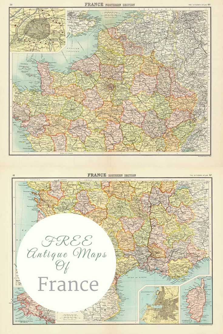 FREE Old Maps of France 1898