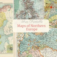 Free Printable Old Maps Of Europe (Northern)