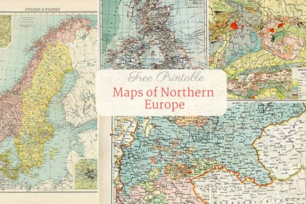Free to download old maps of europe