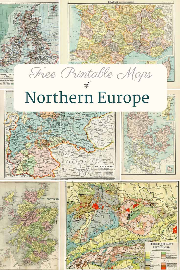 Free Printable old Maps of Europe