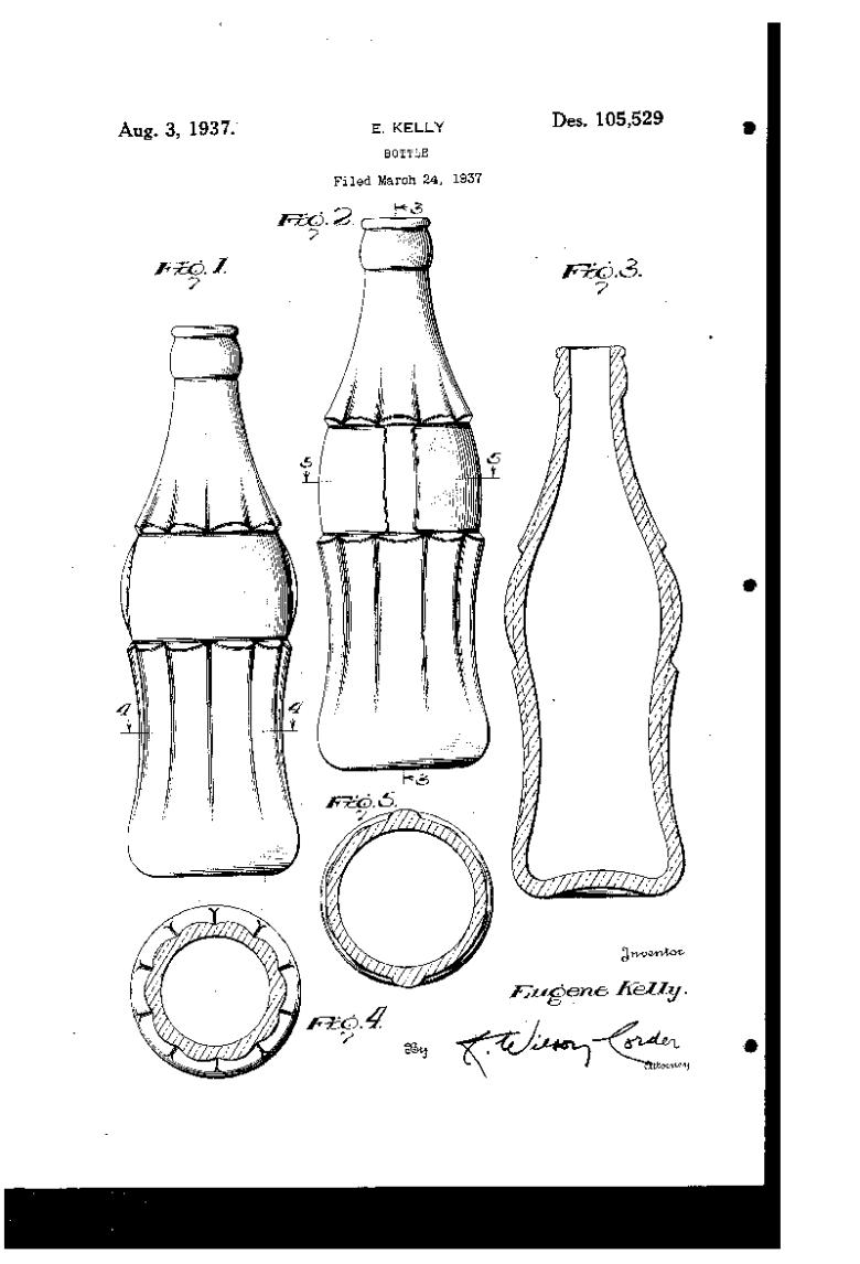 Coke bottle style patent art