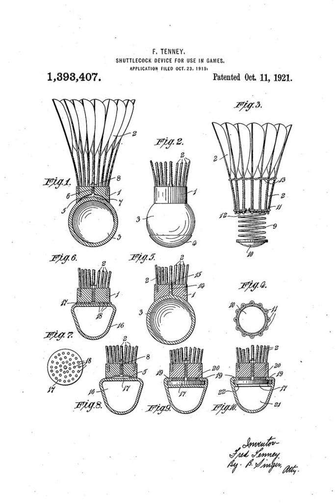 Shuttlecock patent
