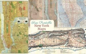 Free printable vintage new york city maps