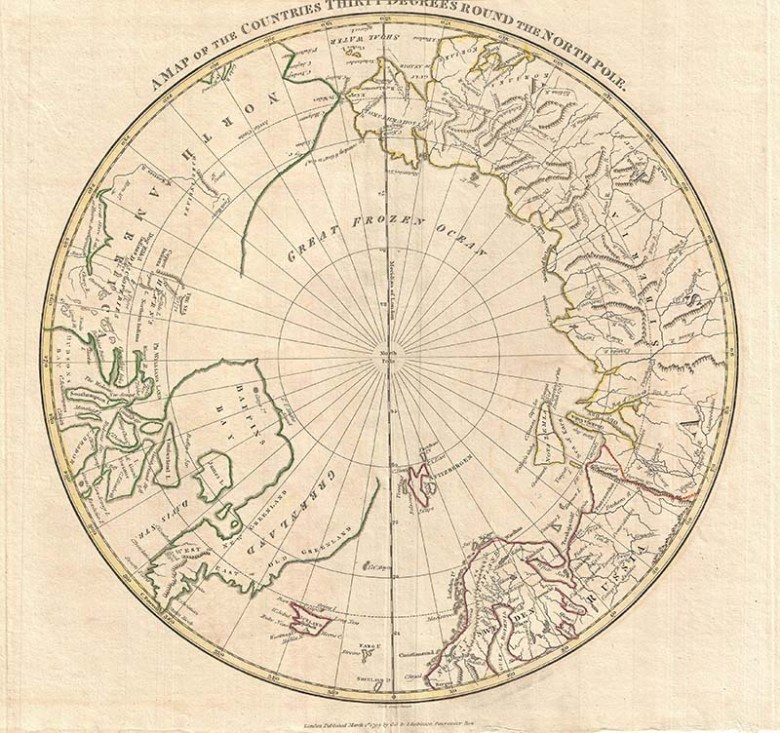 1799_Clement_Cruttwell_Map_of_North_Pole