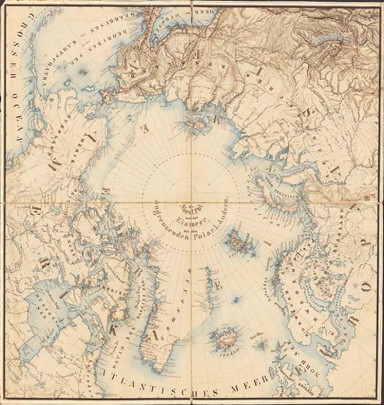 Captain John Ross North Pole Map 1855
