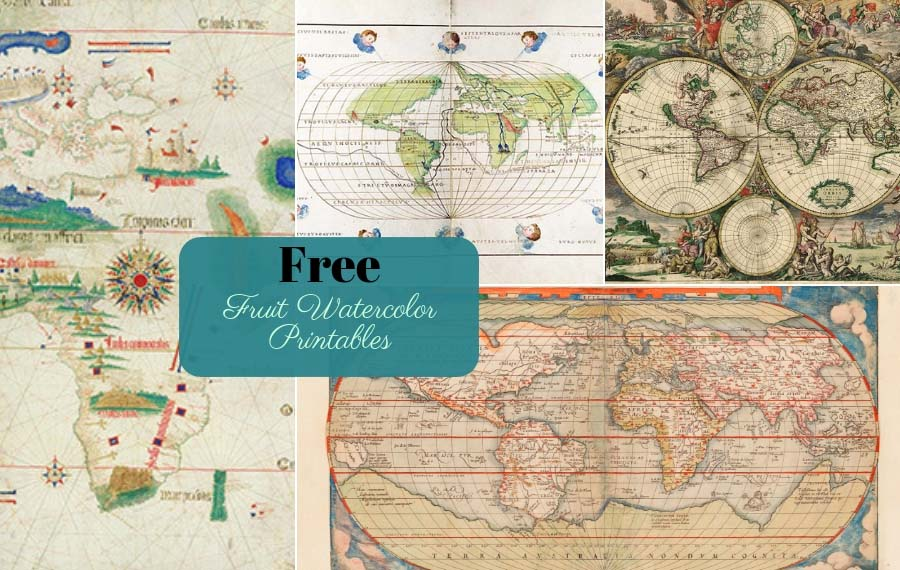 graphic about Free Printable Map of the World identified as 9 Good Totally free Antique World-wide Maps Towards Obtain - Envision