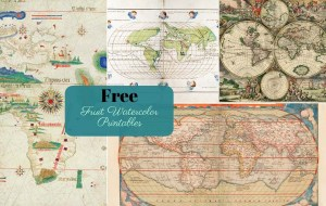 Free Printable antique world maps