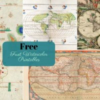 9 Wonderful Free Antique World Maps To Download