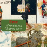 Wonderful Free Antique Scandinavian Christmas Cards To Print
