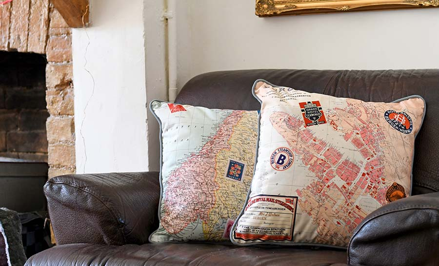 Design And Print A Vintage Map Pillow