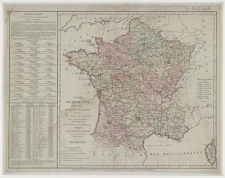 Free downloadable vintage maps of France