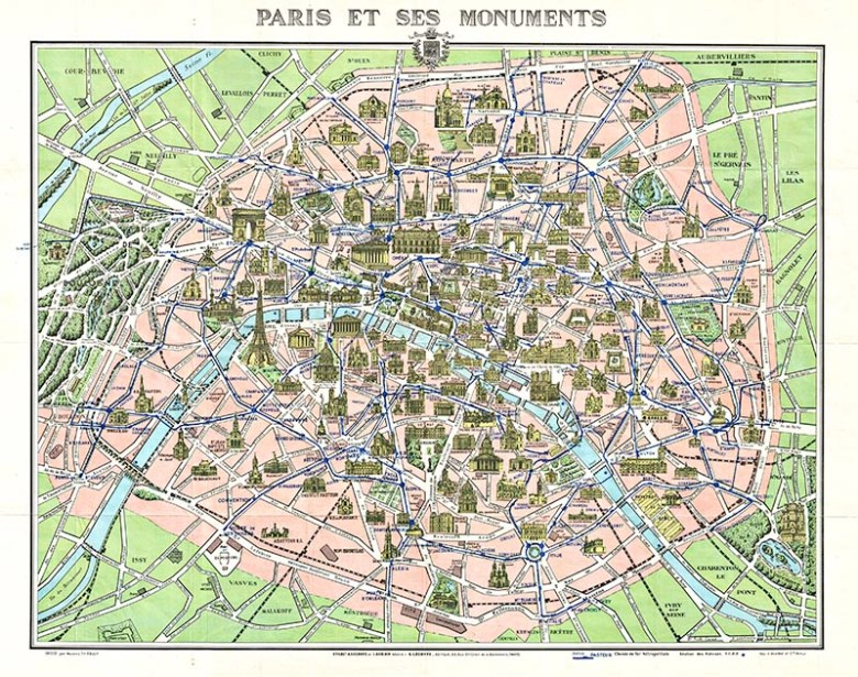 Lovely Old Maps of Paris To Download - Picture Box Blue