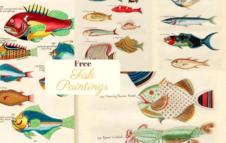 Fantastical fish paintings of Louis Renard
