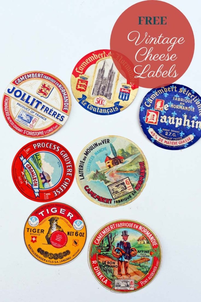 vintage cheese labels.