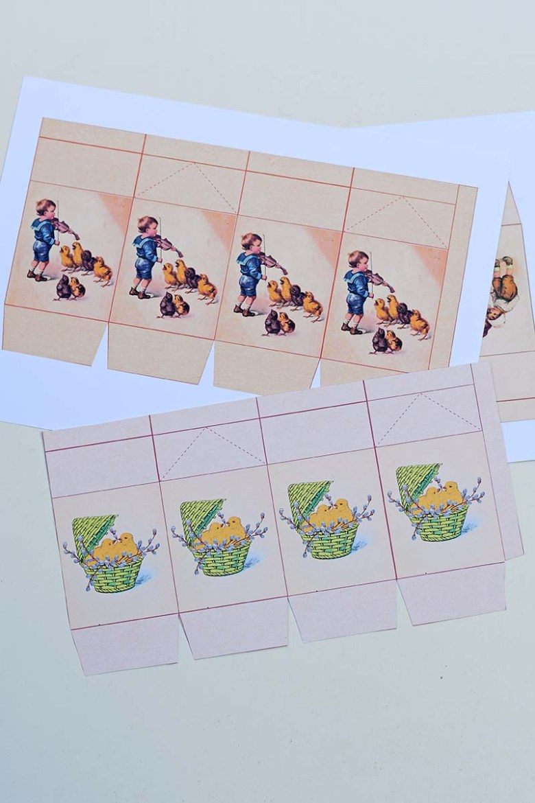 Printed favour box templates