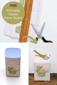 Printable Easter gift boxes