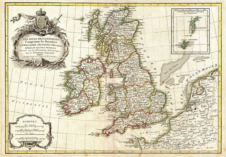 1771 Map of the British Isles