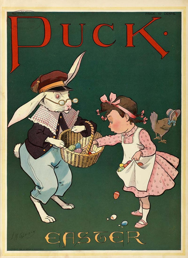 Easter bunny pictures from PUCK magazine.