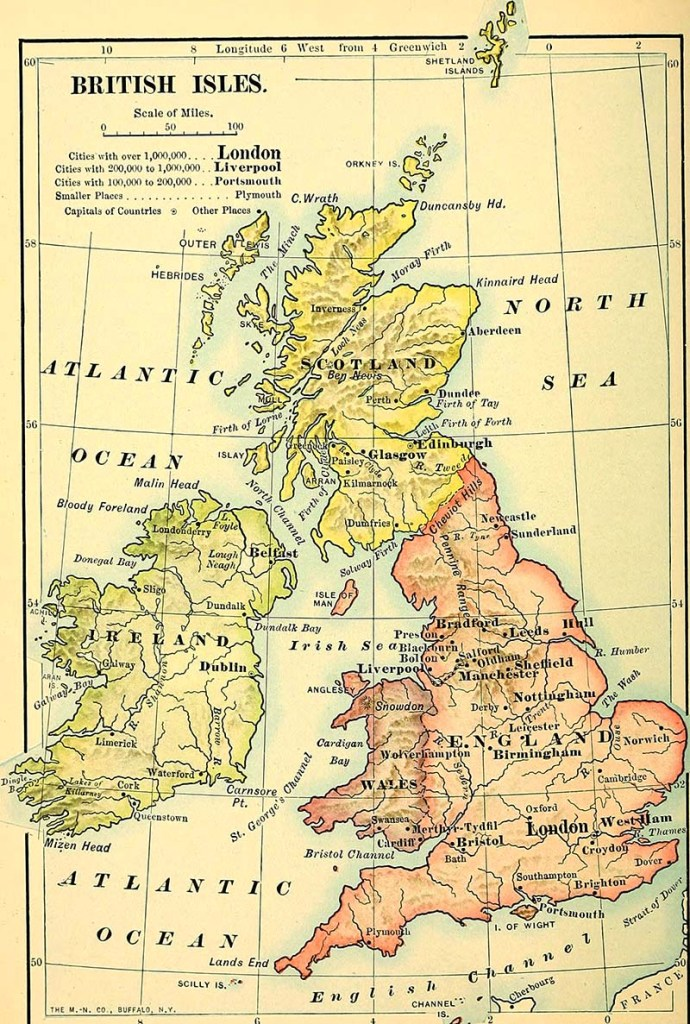 Map of the British Isles 1901