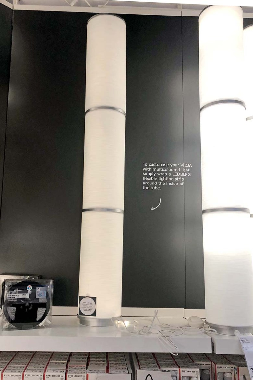 IKEA Vidja floor lamp before hacking