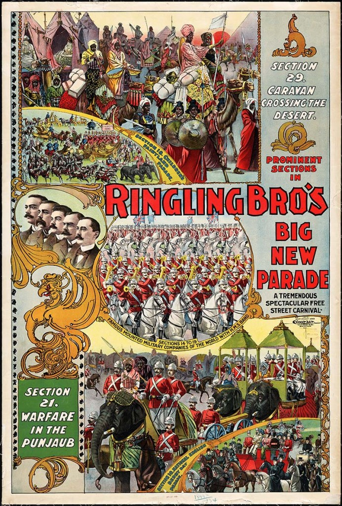 Rignling Brothers Big New Parade Circus Poster