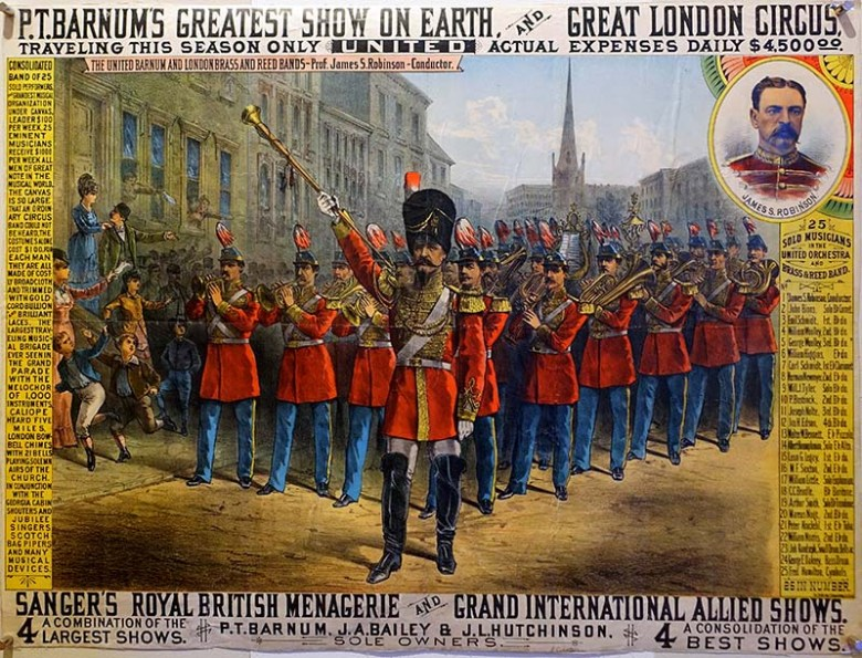Vintage circus poster P.T. Barnum