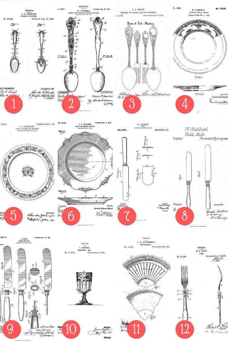 12 free kitchen patents