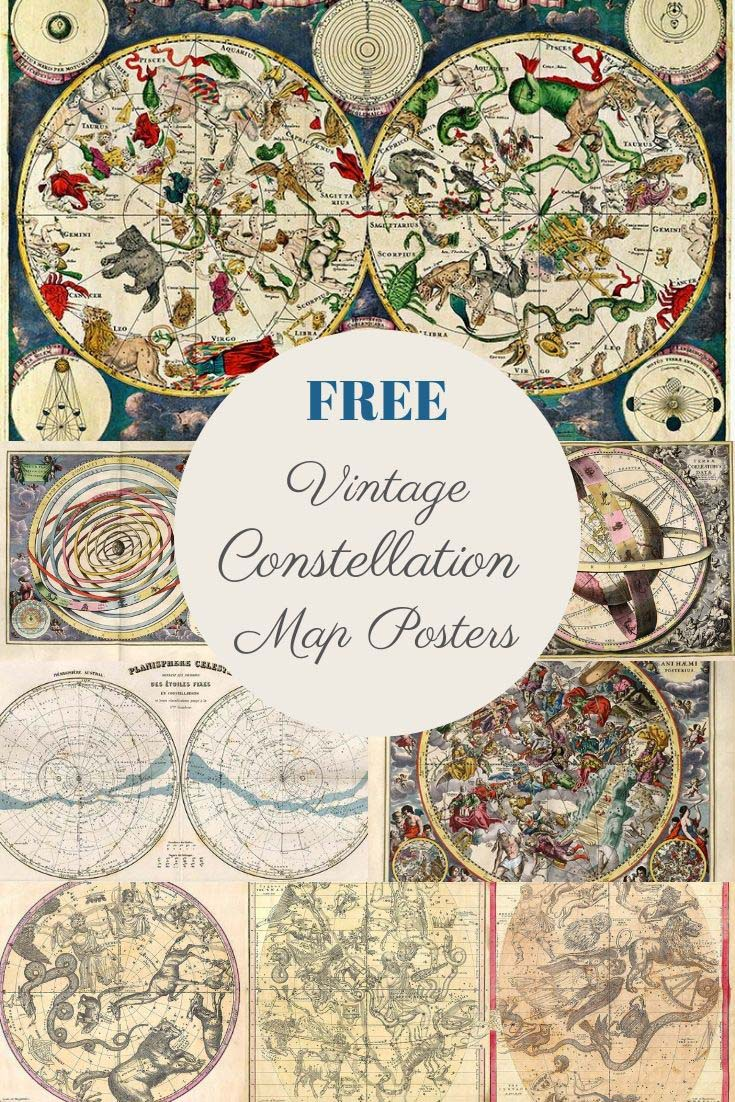free constellation map posters