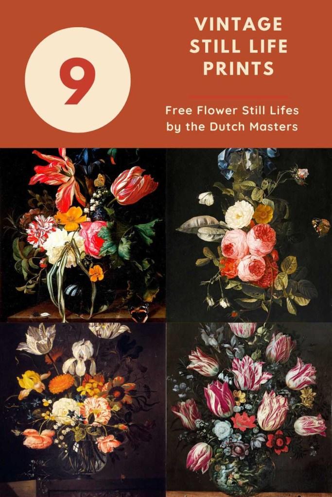 Free flower vintage still life paintings