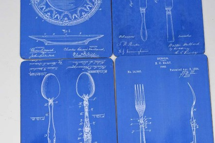 blueprint upcycled DIY placemat