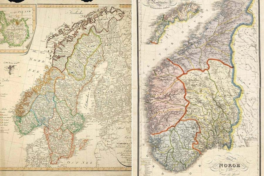 photo relating to Printable Map of Norway identify No cost Previous Maps of Norway In the direction of Down load - Imagine Box Blue