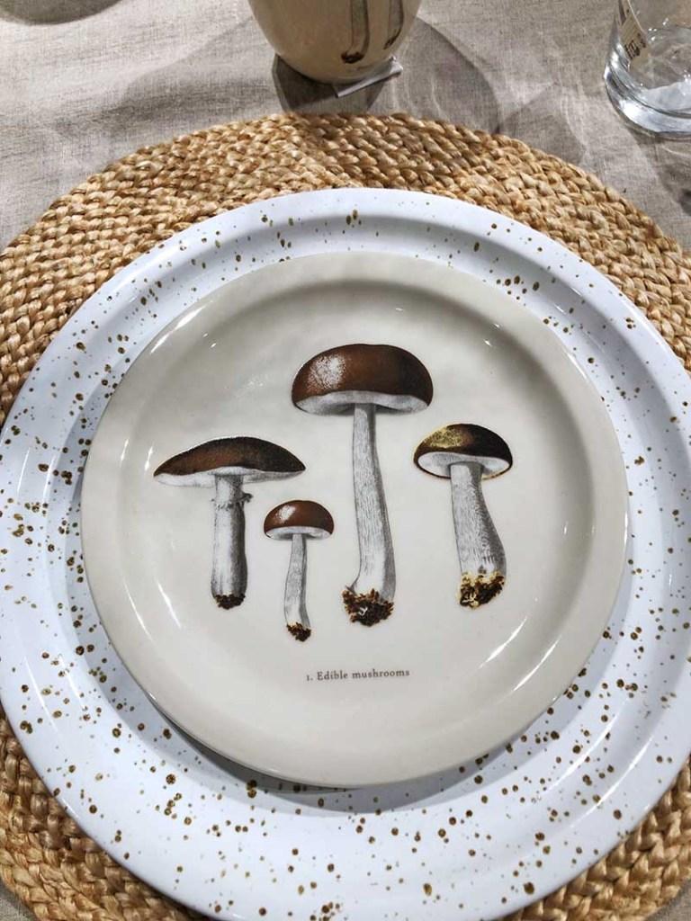 H&M Mushroom plate