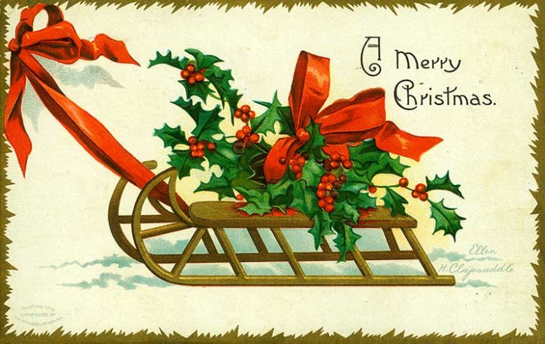 Wonderful Free Vintage Christmas Images To Print Picture Box Blue