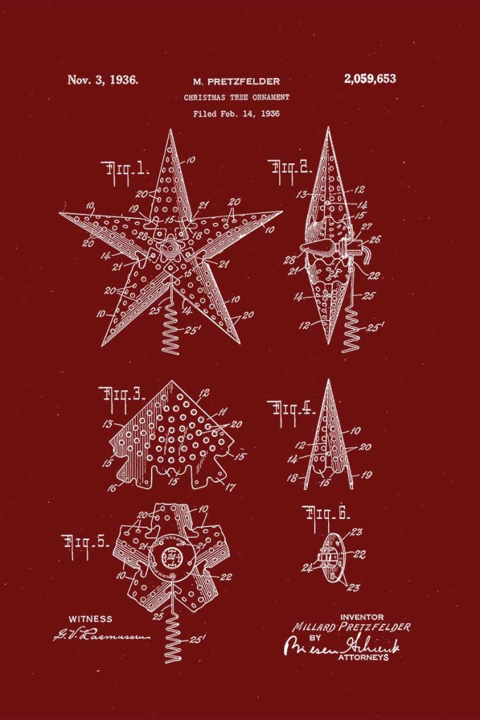 patent for Christmas tree star