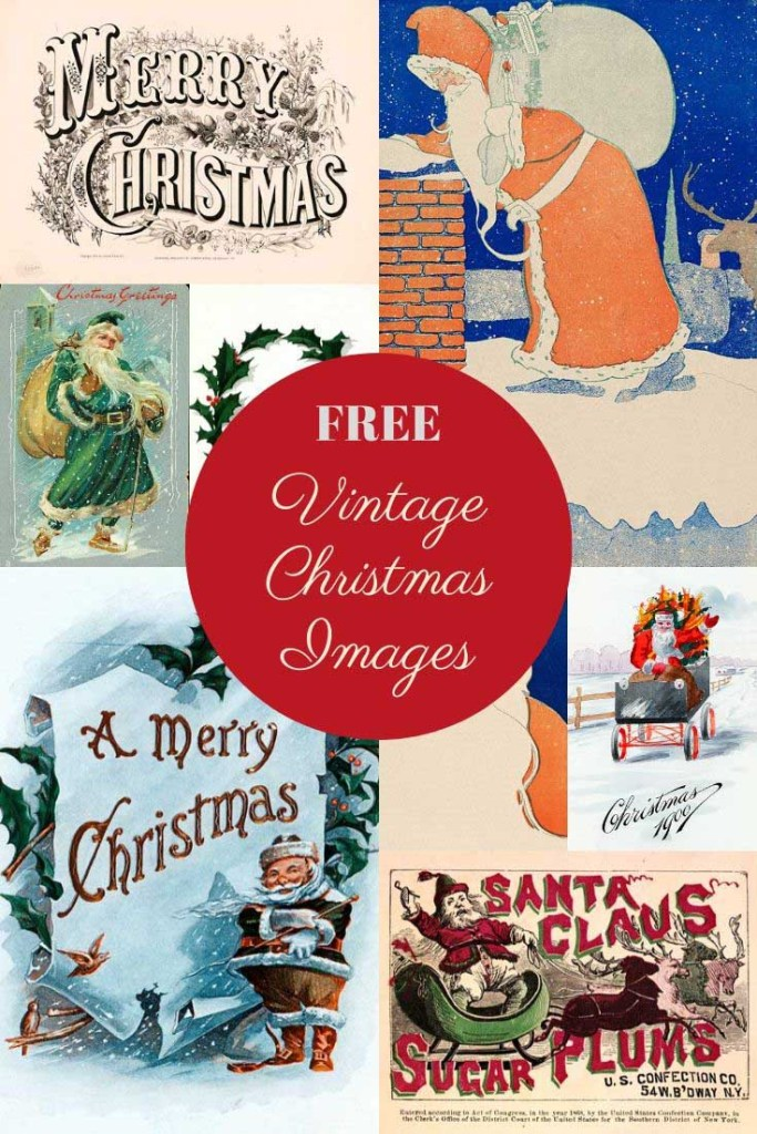 free vintage Christmas images