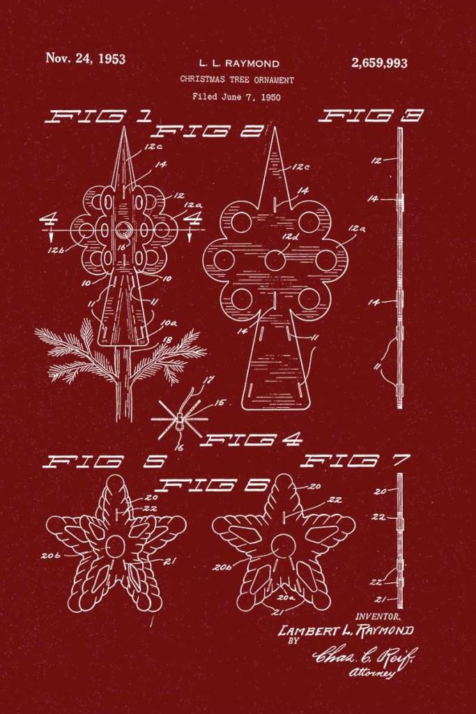 Christms star tree topper
