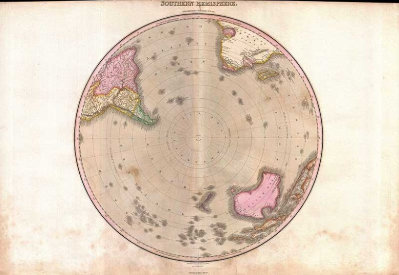 Map of the Southern Hemisphere